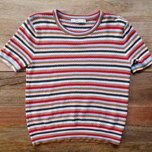 Zara Knit Striped Sweater Tee